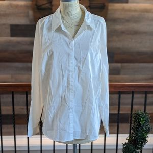 Maurice's Plus Size White Button Down